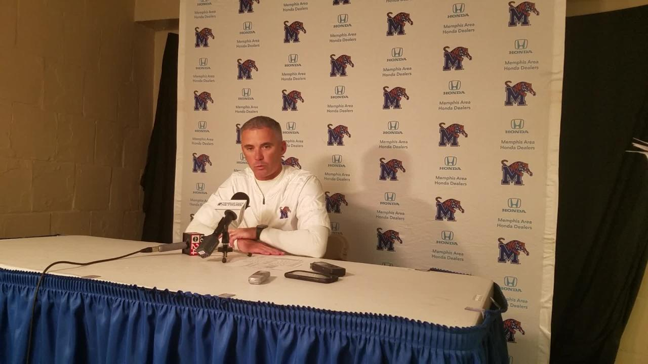 Mike Norvell reacts to Tigers' win at Tulsa