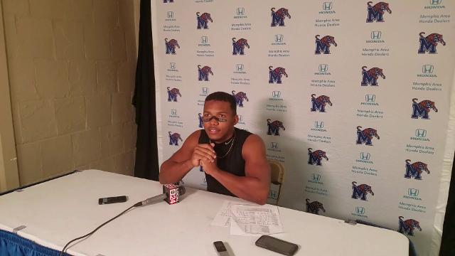 Memphis RB Tony Pollard explains his career-long TD catch at Tulsa