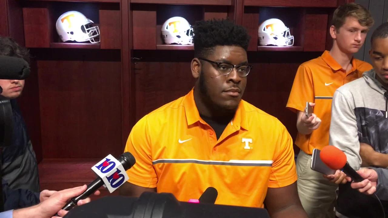 Trey Smith: When you play tackle, 'you've got to be a man'