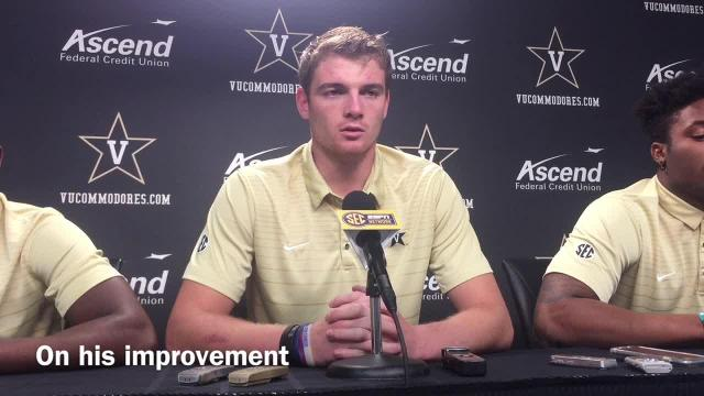 Vanderbilt QB Kyle Shurmur talks about his improvement