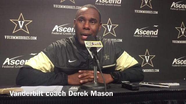 Vanderbilt coach Derek Mason on facing Kentucky