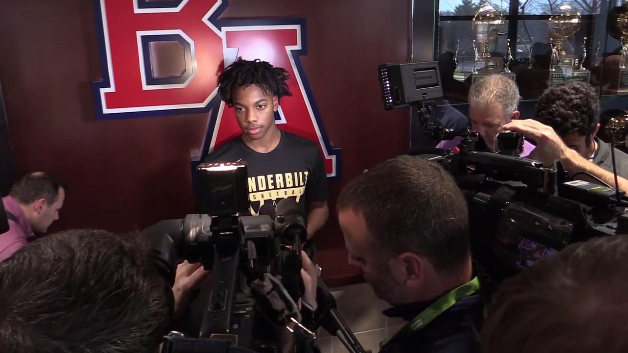 Darius Garland chooses Vanderbilt