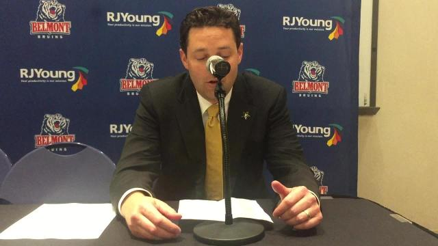 Vanderbilt coach Bryce Drew after loss to Belmont