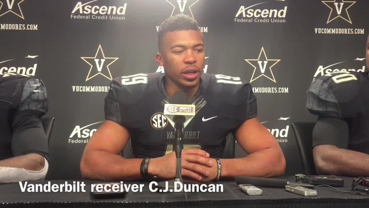 Duncan had 5 catches for 29 yards on senior night