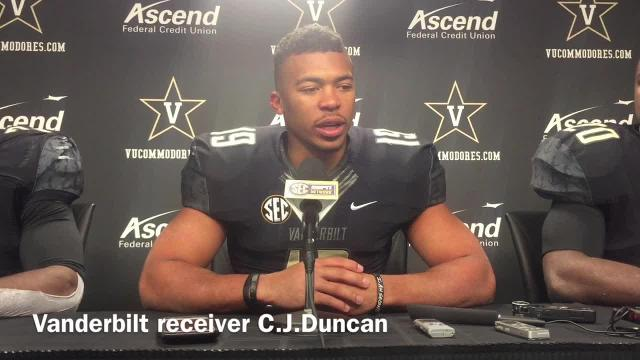 Vanderbilt receiver C.J. Duncan after loss to Missouri