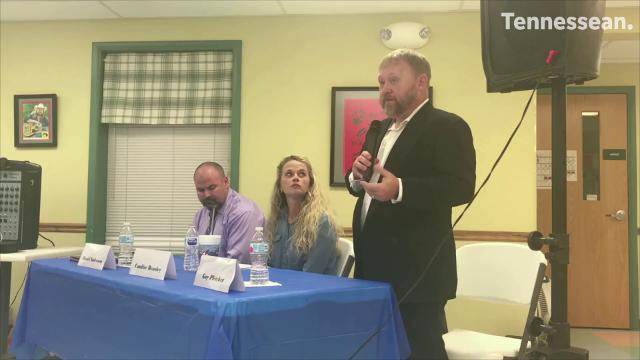 "Daniel Anderson, Candice Beasley and Guy ""Mick"" Pletcher shared their views at a candidate forum Thursday in Ashland City."