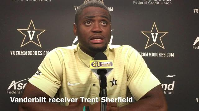 Senior receiver Trent Sherfield says he's not been disappointed with Vanderbilt's season.