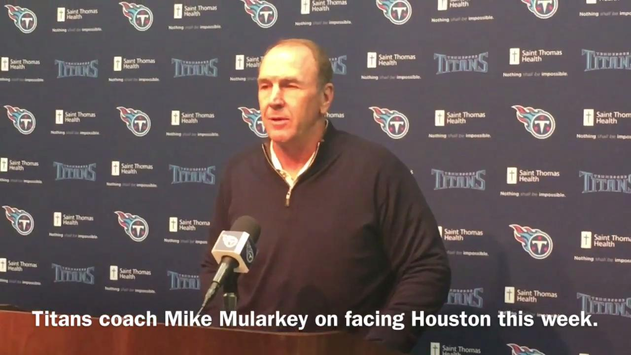 Titans coach Mike Mularkey on facing the Texans Sunday at Nissan Stadium