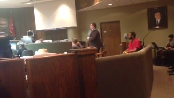 Downtown rampage suspect Justin Welch interrupts during hearing about mental competency.