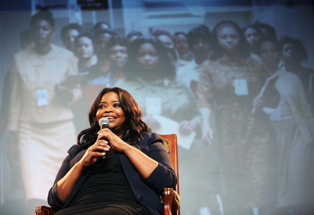 Academy Award-winning actress Octavia Spencer speaks during the 16th Annual Methodist Healthcare Foundation Cancer Center Luncheon in the Grand Ballroom of The Peabody Hotel.