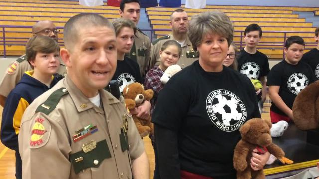 The Community Crew Club started a drive at William James Middle School in White Bluff to collect teddy bears for Tennessee Highway Patrol officers to provide to children following wrecks and at other scenes.