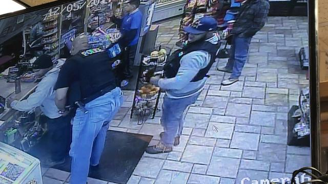 Surveillance video from Collierville Express Mart shows the arrest of Billy Ray Turner, a suspect in the death of NBA player and Memphis native Lorenzen Wright.
