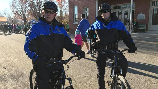 The Dickson Bicycle Patrol is a new, two-person unit: Cpl. Dustin Hargrove and Cpl. Levi Davis.