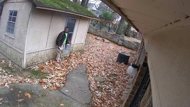 Surveillance video of arson suspect from Knight Arnold fire