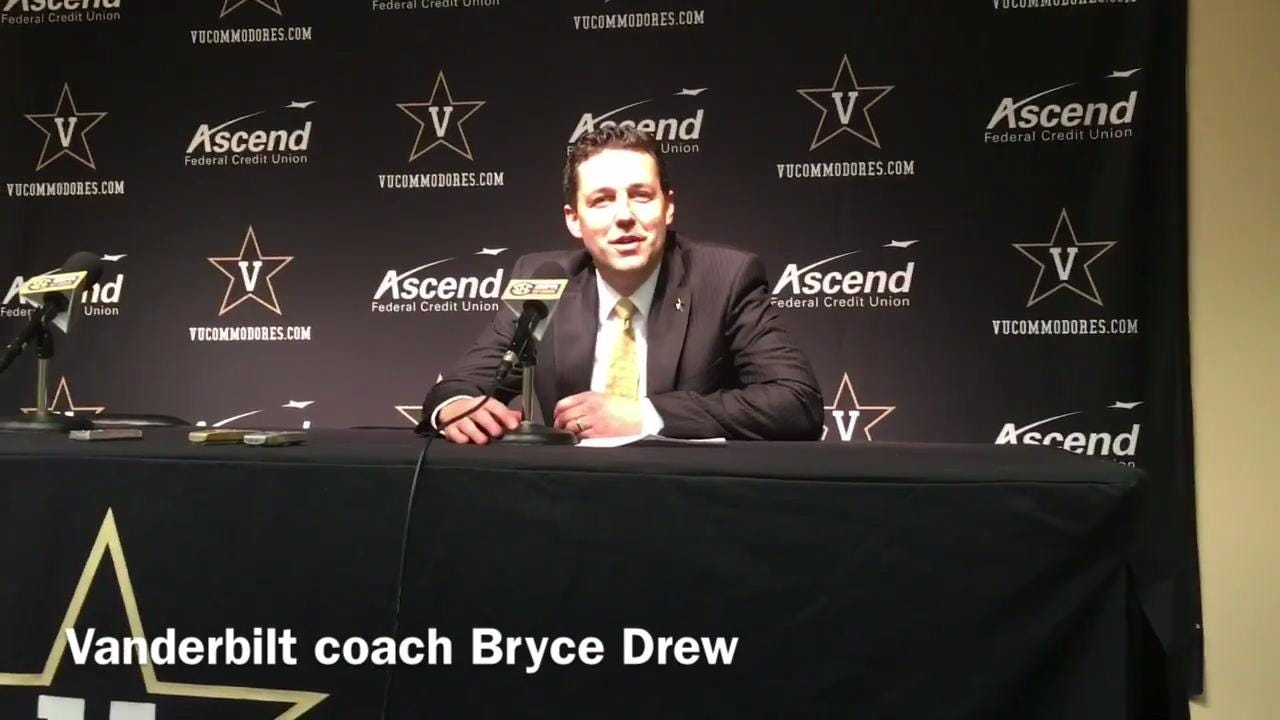 Vanderbilt coach Bryce Drew on the Commodores' worst start in 72 years
