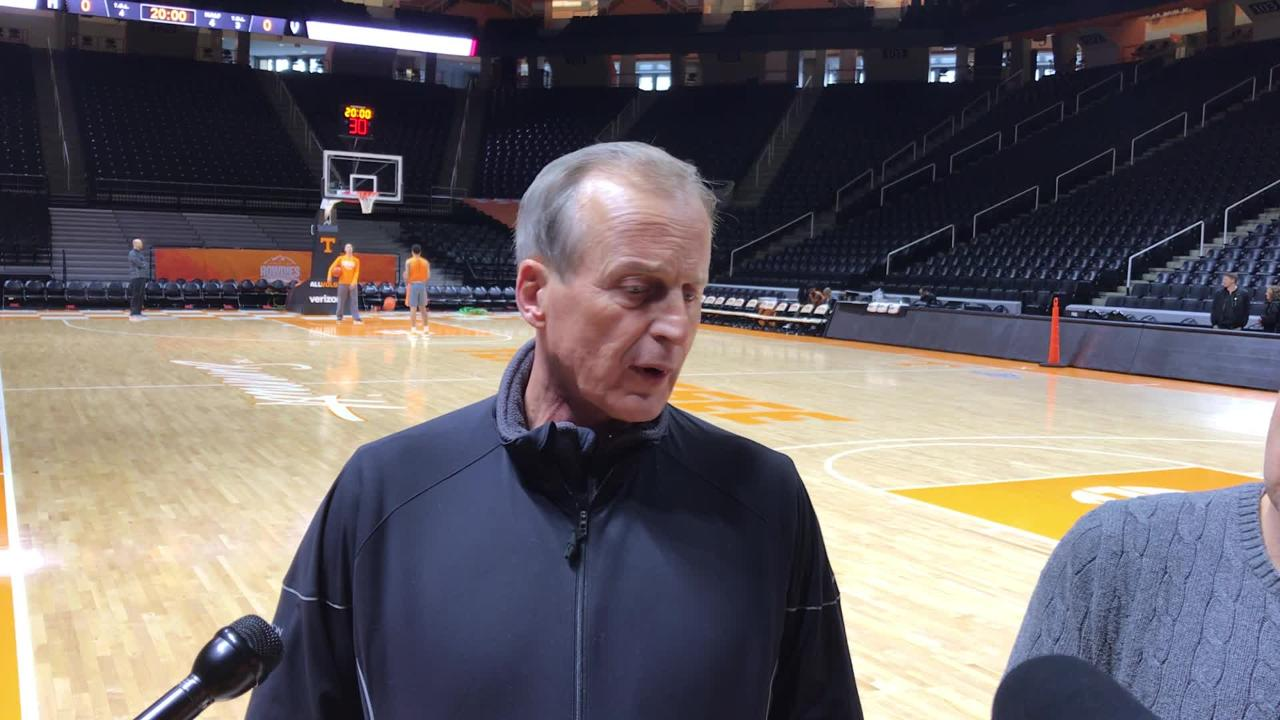 Rick Barnes: Vols being ranked 'wasn't our focus'