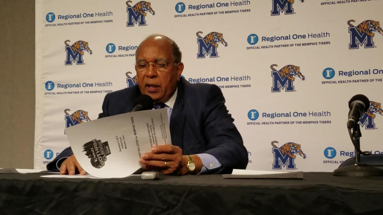 Tubby Smith breaks down the Tigers' win over Bryant