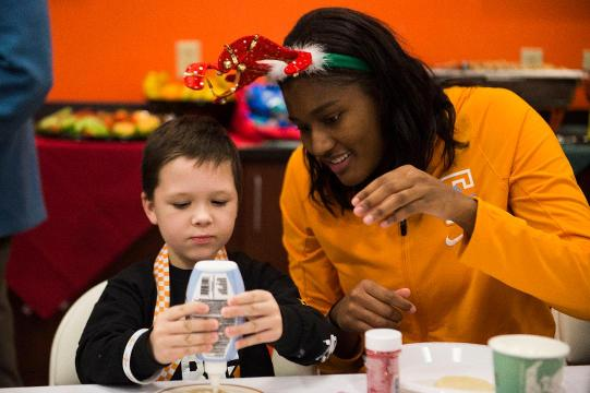 Scenes from Lady Vols' Christmas party for ETCH kids