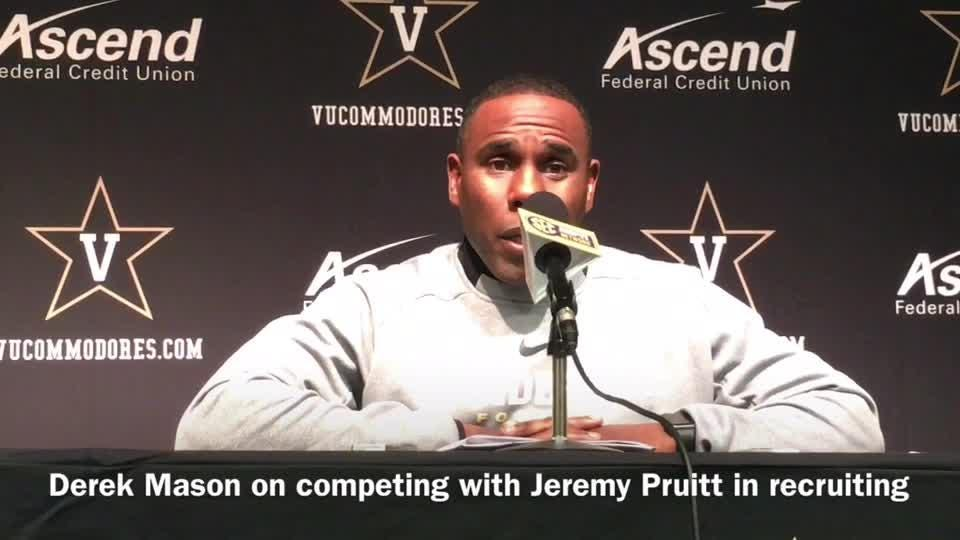Derek Mason: 'I really don't care' how Tennessee recruits