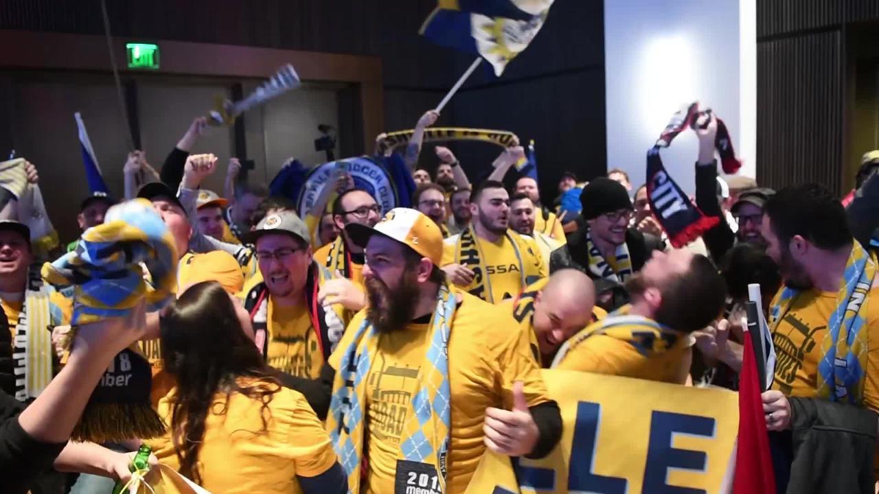 Fans celebrate Major League Soccer coming to Nashville