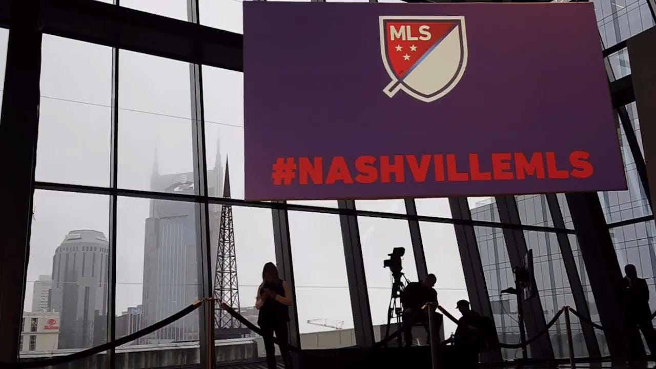 Nashville goes from surprise contender to MLS expansion site