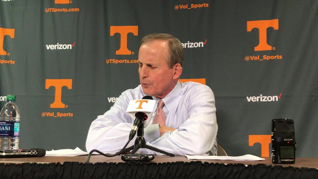 Rick Barnes: Vols were outworked by Auburn