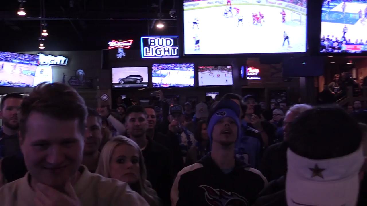 Titans fans party at Johnny's Tavern in Kansas City