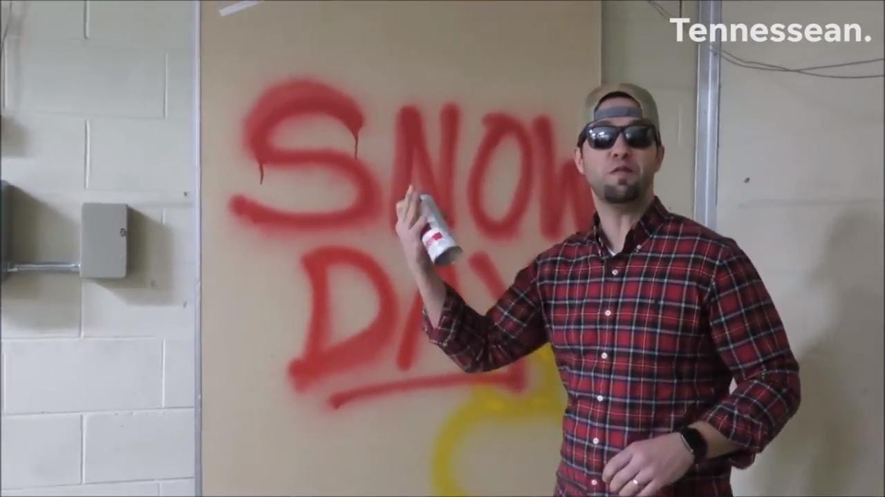 Elementary school principal raps about the snow day in Mt. Juliet, Tennessee