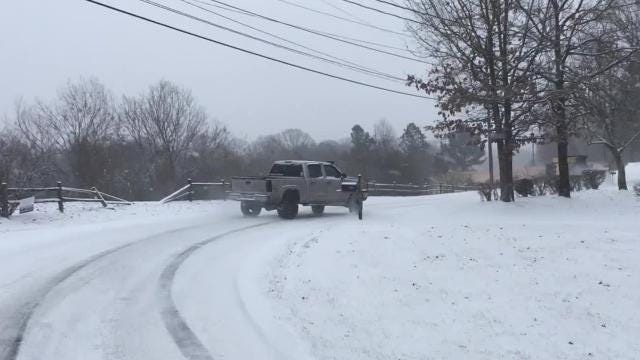 Snow falls in Fairview creating hazardous road conditions