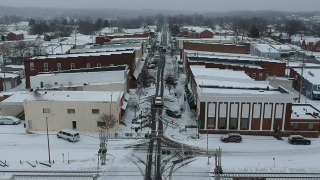 Snowy Dickson by Drone
