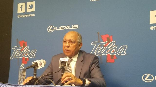Tubby Smith discusses Tulsa loss, Jeremiah Martin's injury
