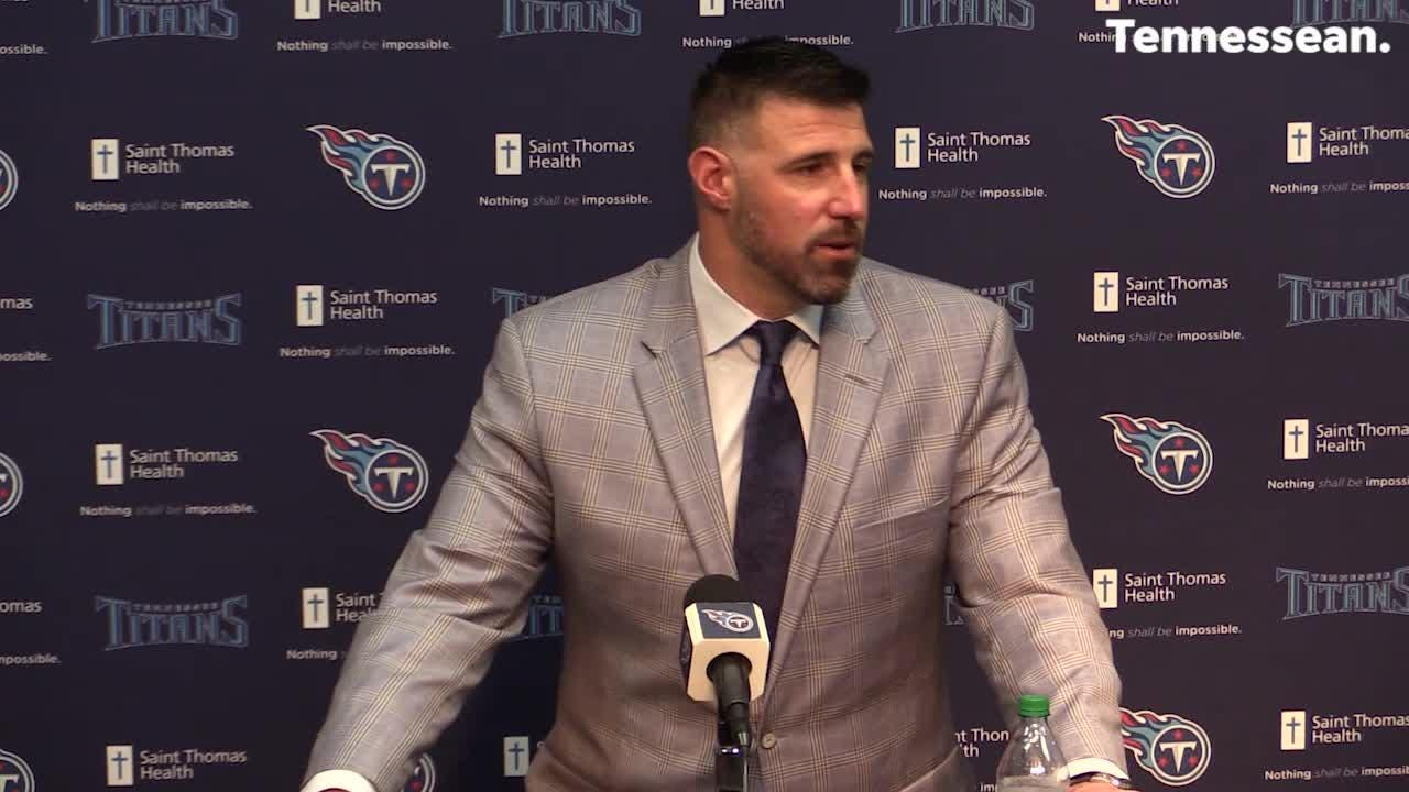 Wrap up of Mike Vrabel's first press conference for the Titans