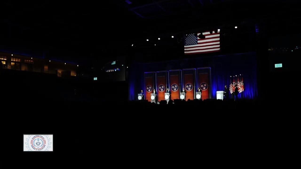 Gubernatorial candidates Randy Boyd, Craig Fitzhugh, Karl Dean, Beth Harwell and Bill Lee speak on teachers pay and retainment