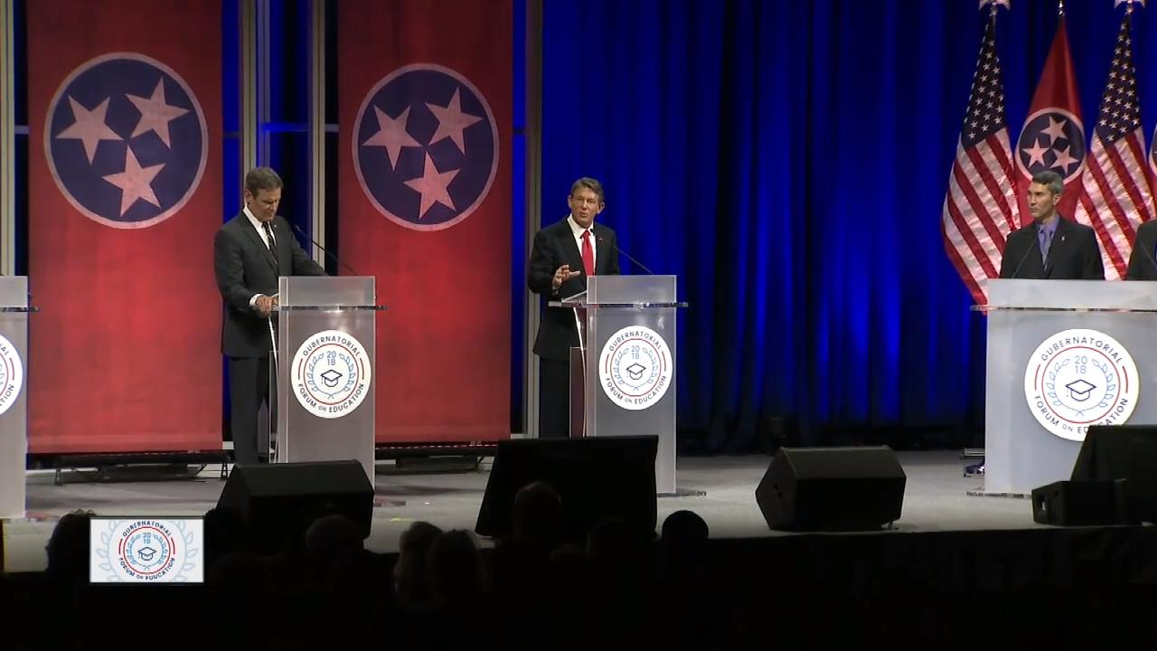 Gubernatorial candidates talk about Tennessee Promise at the gubernatorial forum.