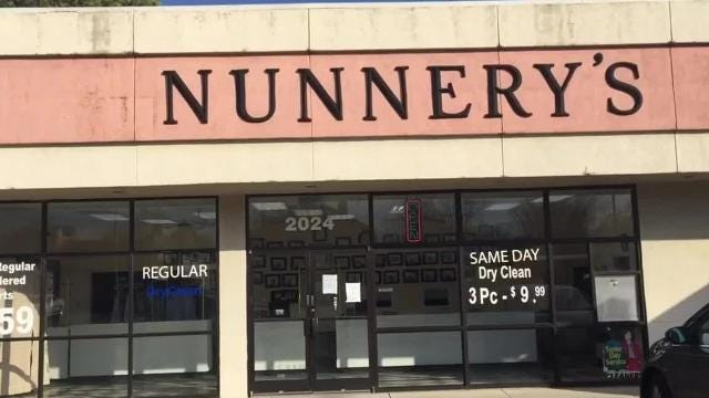 Nunnery's Exclusive Cleaners has closed despite being on a bustling section of Union Avenue.