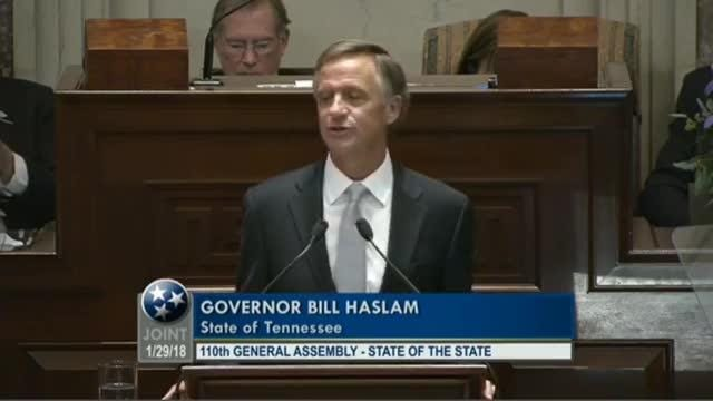 State of the State: Gov  Bill Haslam says state is closing in on the