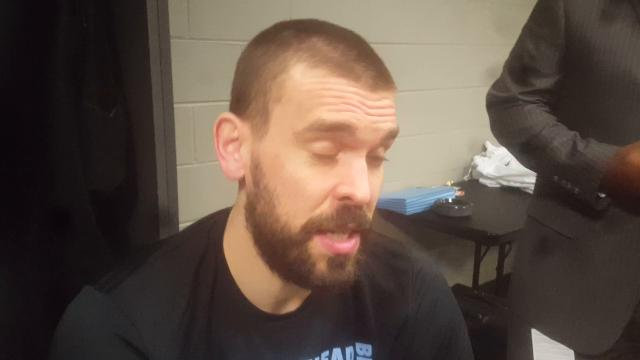 Grizzlies center Marc Gasol describes the selfishness that led to loss against the Atlanta Hawks.