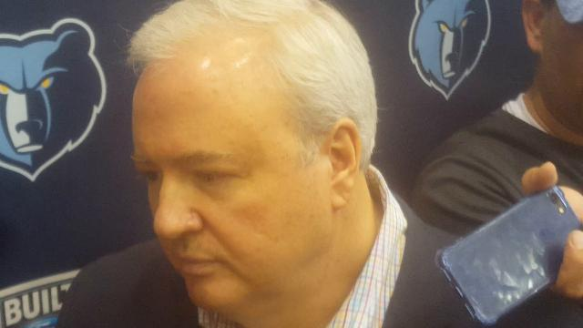 Grizzlies general manager Chris Wallace  explains why they didn't trade Tyreke Evans.