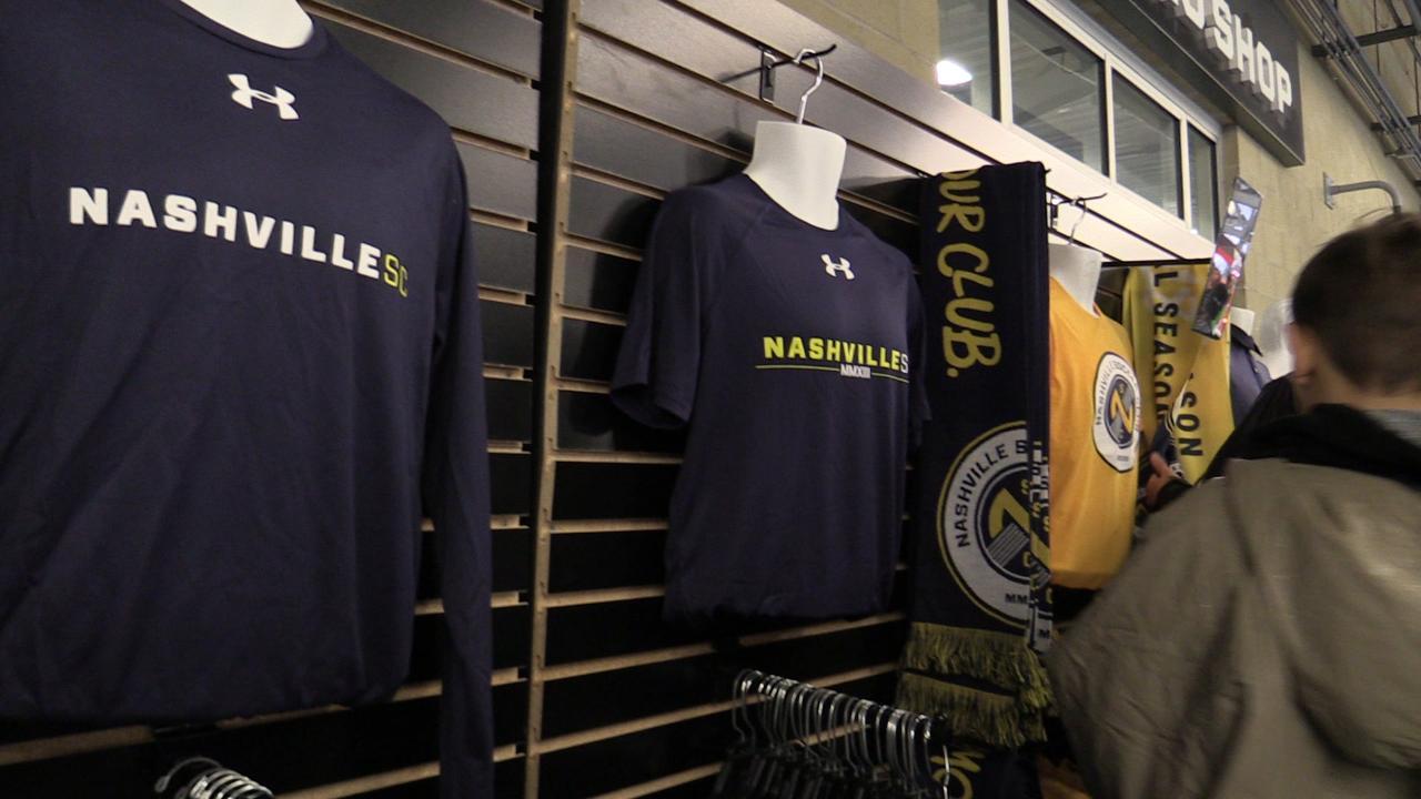 Nashville SC fans make be-line for team pro shop ahead of Atlanta United game.