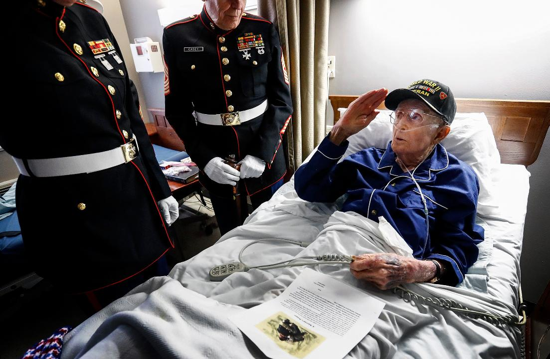 79536121500618 One of Memphis area s last surviving Iwo Jima veterans recalls ...