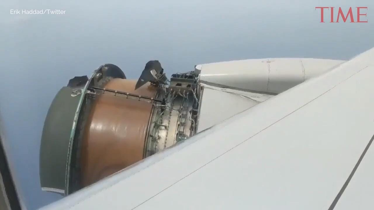 A United flight made an emergency landing in Honolulu on Tuesday after a piece of the cover came off the plane's right engine.