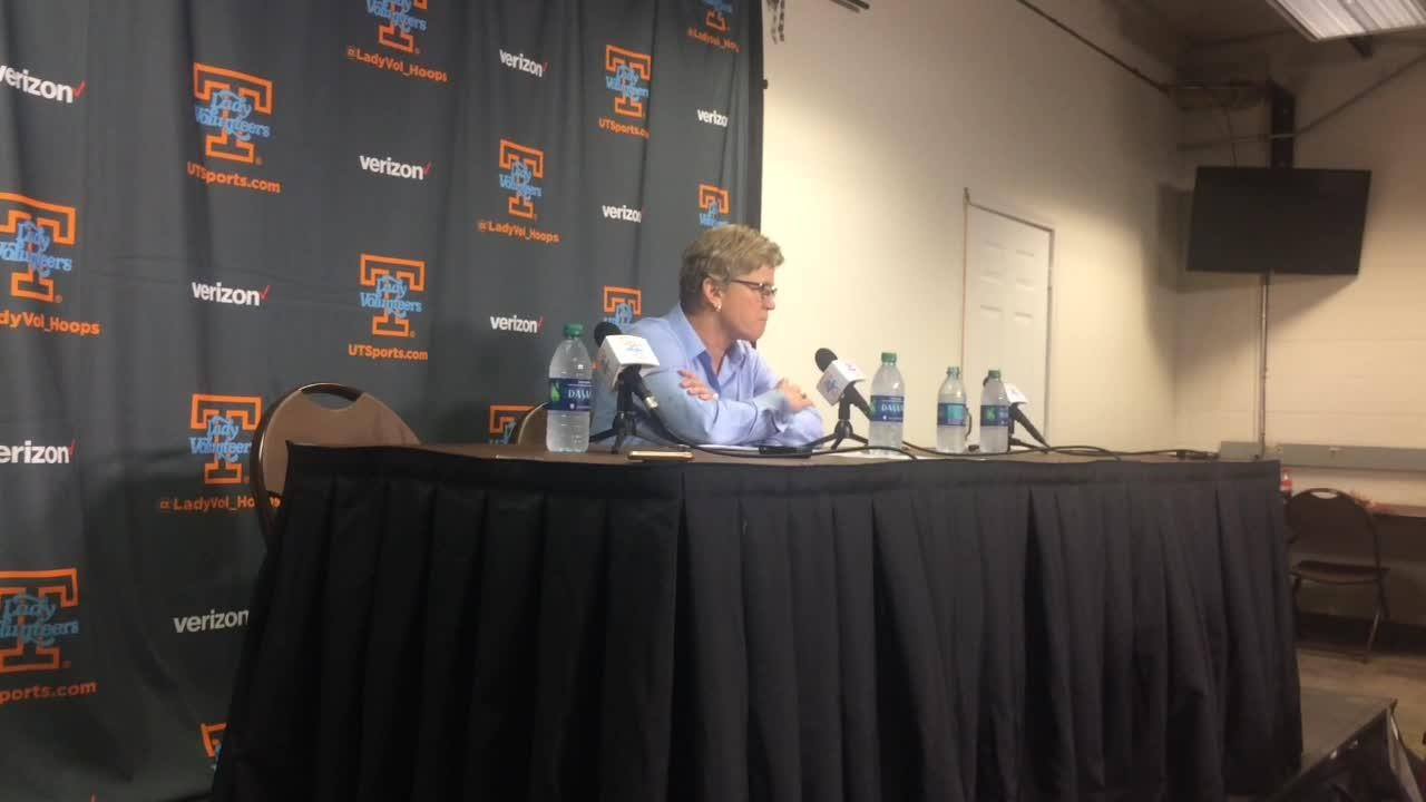 UT coach Holly Warlick indicates that Alabama's toughness in rallying reflected poorly on Tennessee's play