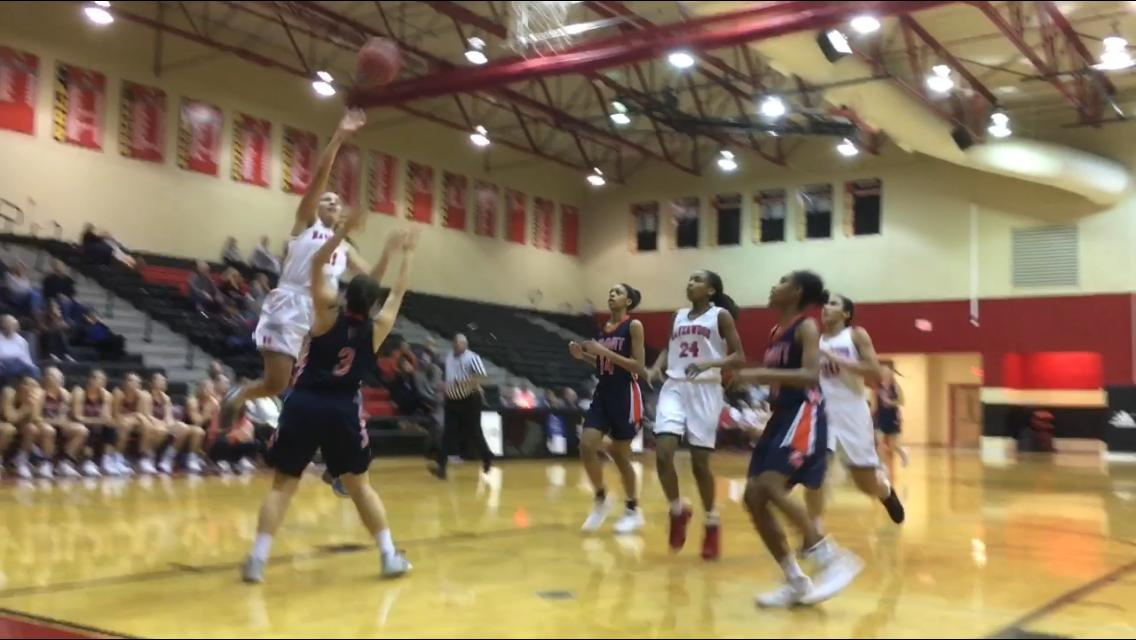 Ravenwood burst out to an 11-0 lead and never looked back in a 52-39 win over Summit in the quarterfinals of the District 11-AAA girls' basketball tournament at Ravenwood's gym on Friday, Feb. 16, 2018.