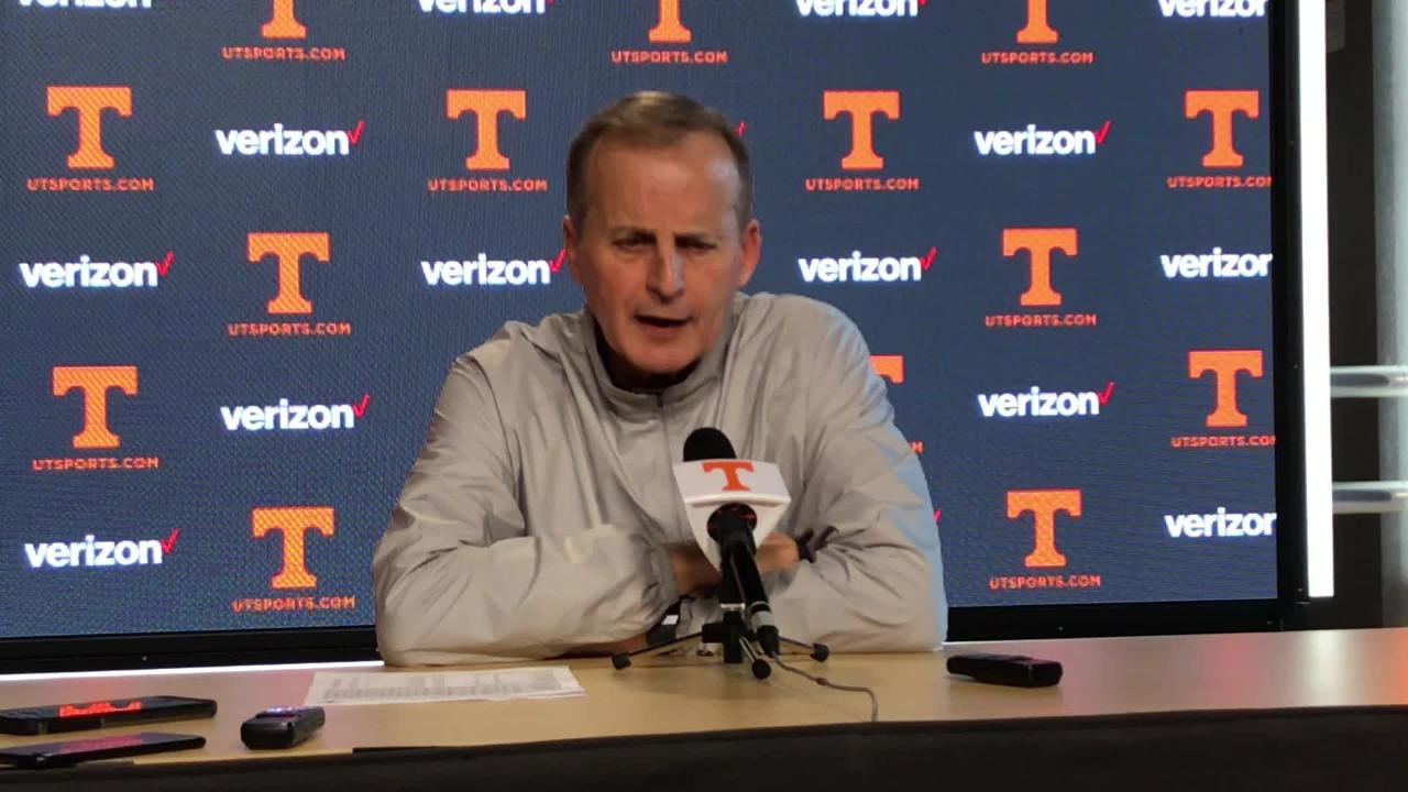 Tennessee coach Rick Barnes talks about Grant Williams on Monday