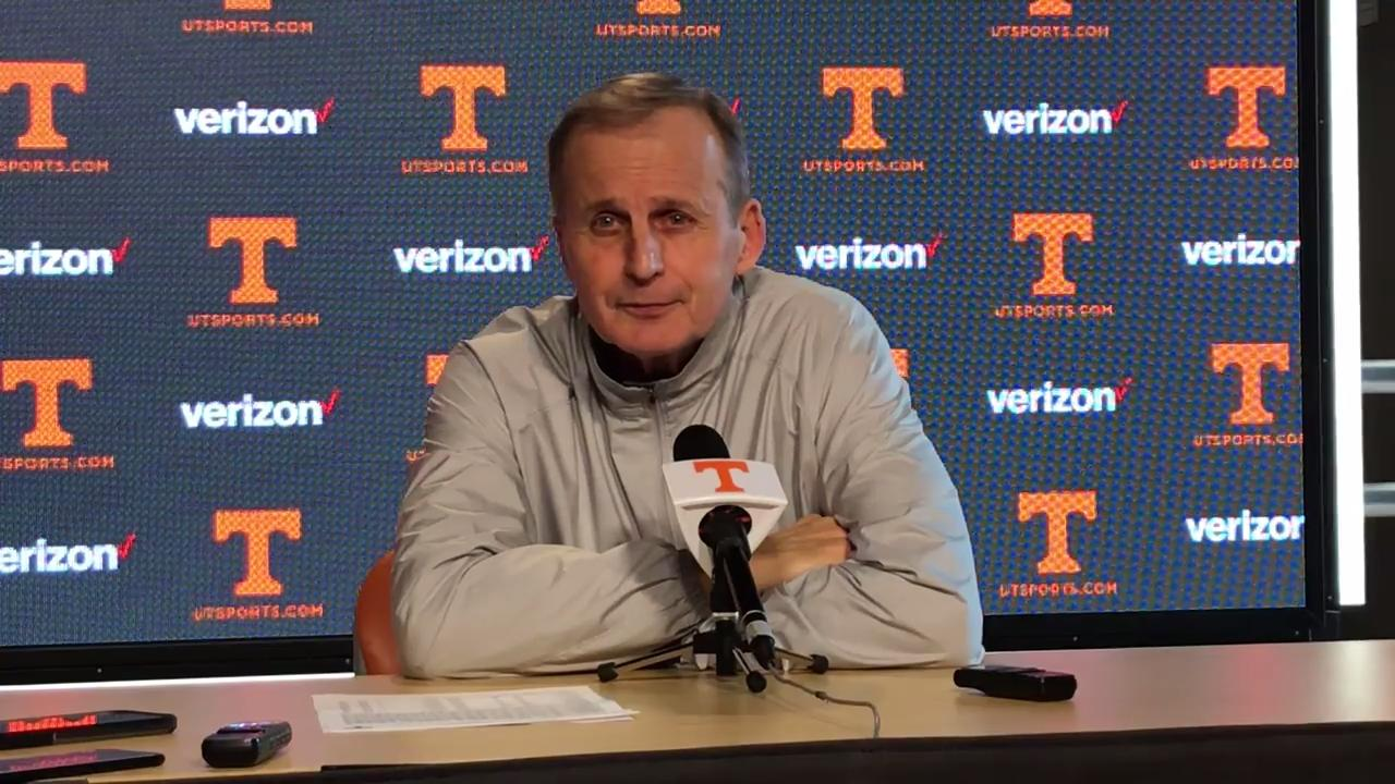 Tennessee coach Rick Barnes met with the media Monday