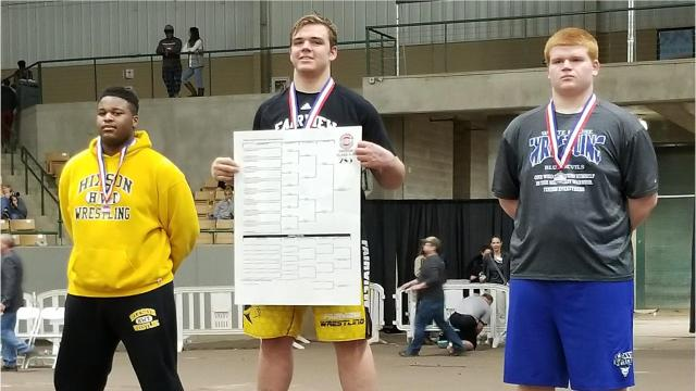 Fairview High's Jackson Clevenger wins State Wrestling Championship in heavy weight