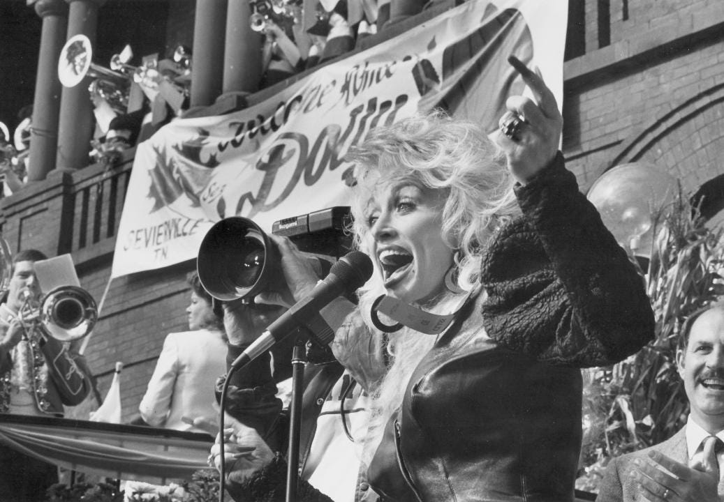 """From the archives: Dolly Parton has """"always had a dream to do great things."""" She has been a success in music, movies, business and aher philanthropic ventures. Parton talks about her many business interests and to what she attributes her successes."""