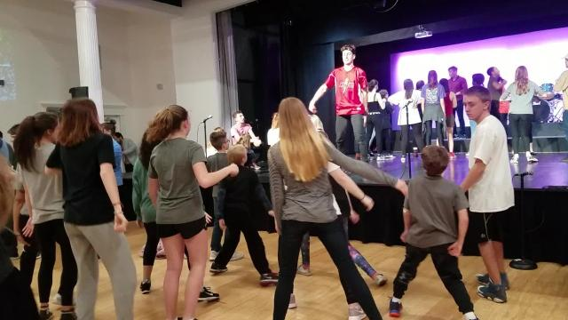 The Young Americans didn't waste time in their stop in Gallatin for a three-day workshop: they rushed the kids to learn a routine in 10 minutes.