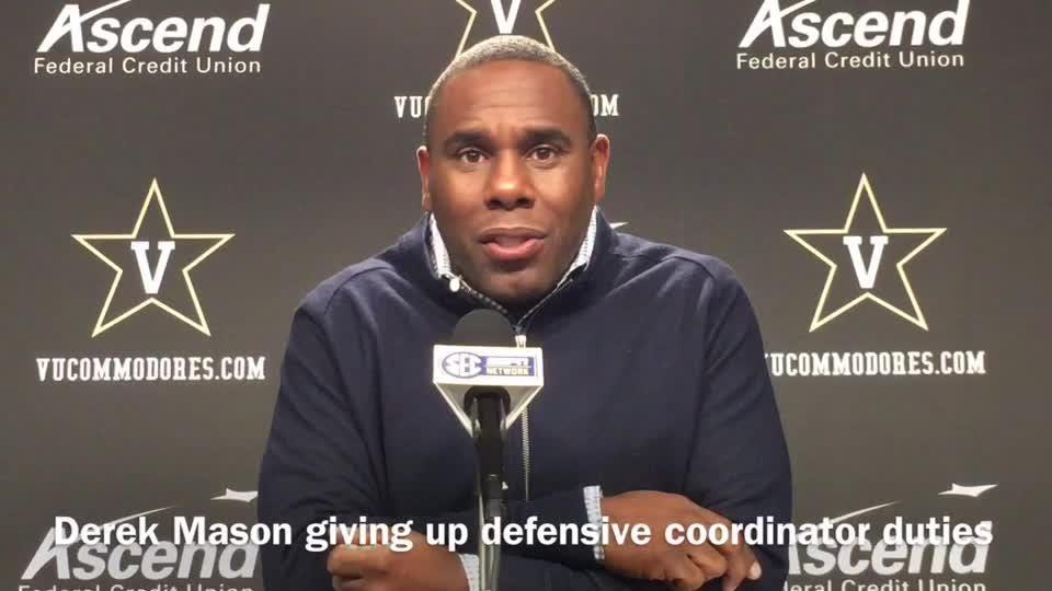 Derek Mason giving up coordinator duties