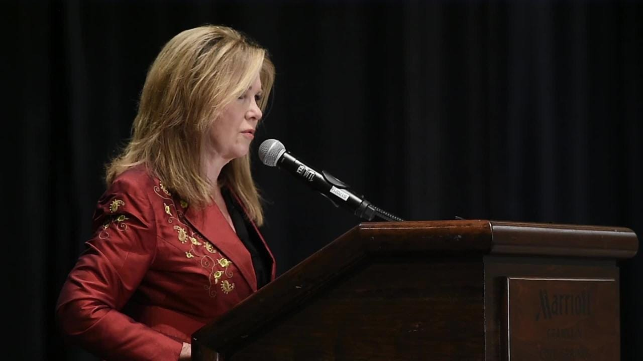Marsha Blackburn addressed the Williamson County Republican Party's annual Reagan Day dinner as she campaigns for the U.S. Senate seat currently held by Bob Corker.